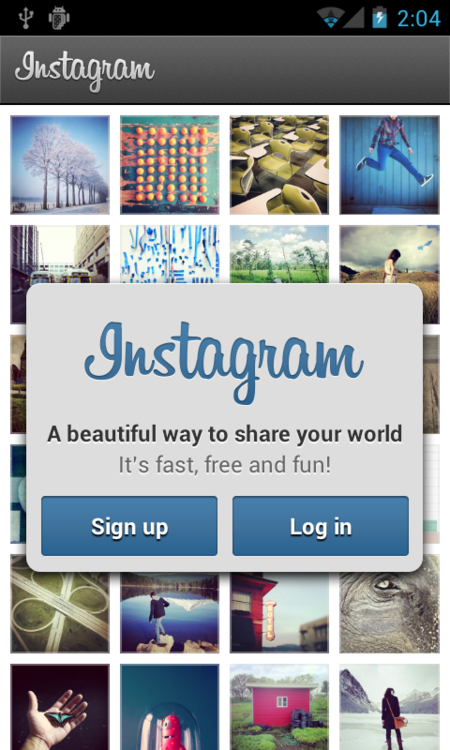 Instagram pentru Android