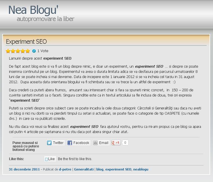 Blogul lui NeaBlogu