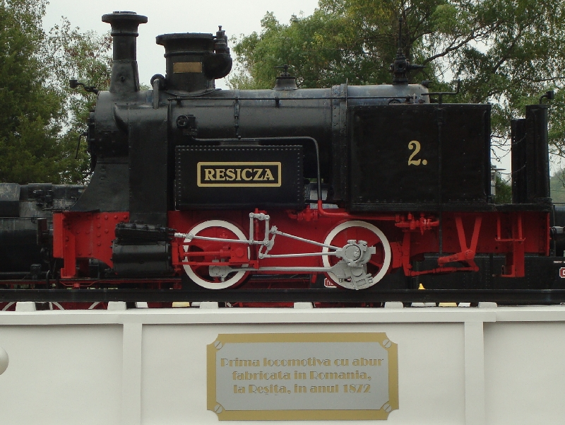 Resicza - prima locomotiva cu abur construita la Resita in 1872