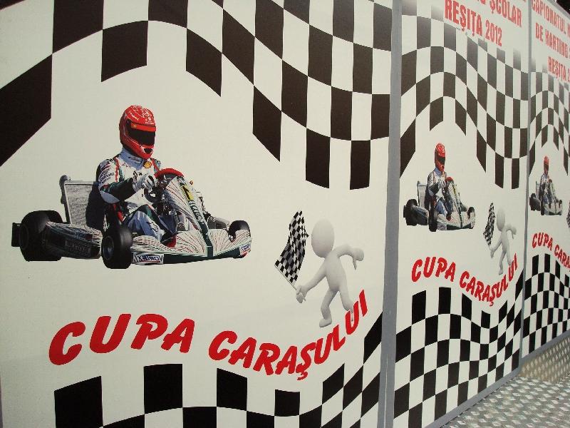 Afisul de la Cupa Carasului la Karting - Resita, Octombrie 2012