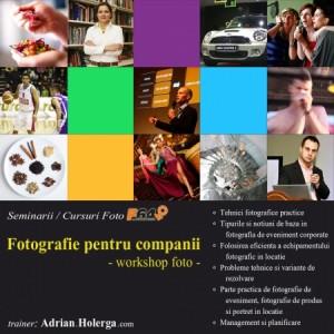 workshop foto - Fotografie pentru companii