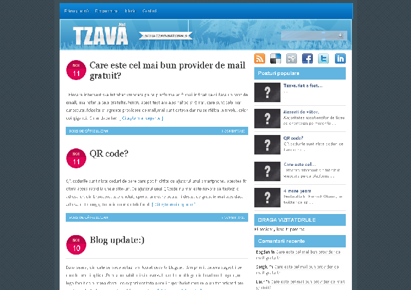 imagine cu blogul tzava.net