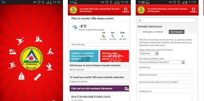 Salvamont Aplicatie Android