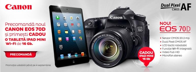 Canon 70D campanie precomanda
