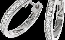 cercei rotunzi cu diamante