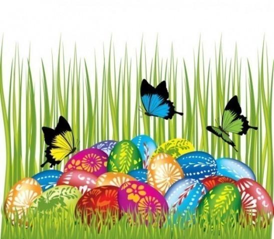 cuib cu oua colorate