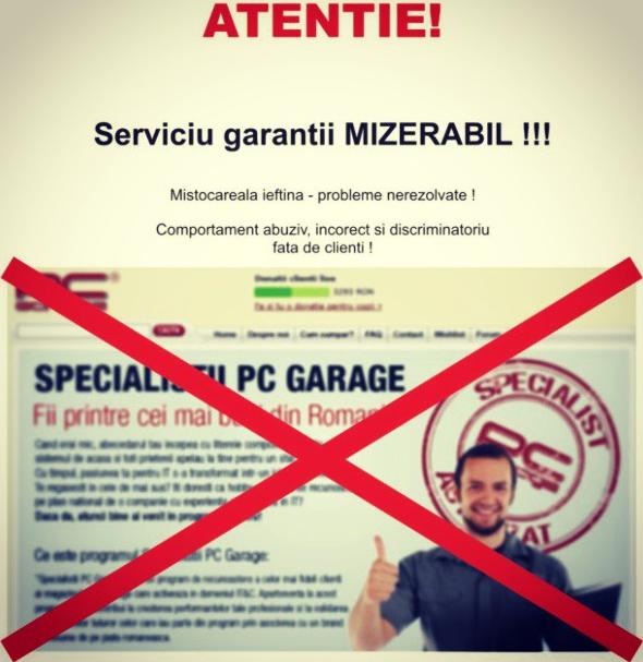 Atentie! Serviciu garantii MIZERABIL!!!