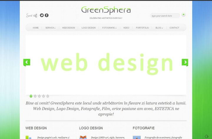 greensphera.ro - web design, logo design