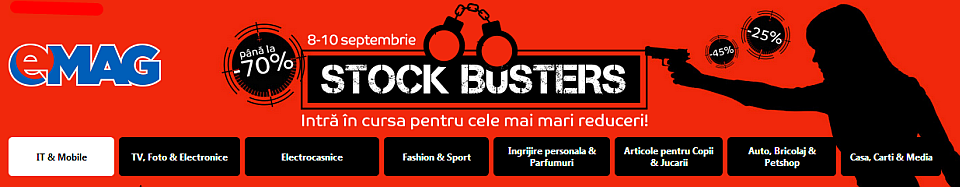 Stock Busters Septembrie 2015